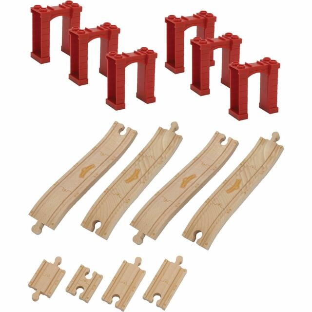 Chuggington Wooden Railway Elevated Track Pack Learning Curve 56902 Retired