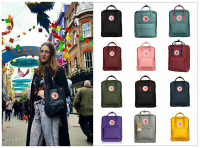 7L//16L//20L Unisex Backpack Fjallraven Kanken Travel Shoulder School Bags UK 2020