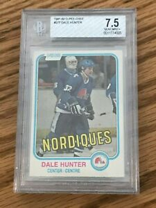 1981-82-O-Pee-Chee-277-Dale-Hunter-RC-Rookie-BGS-7-5-NM
