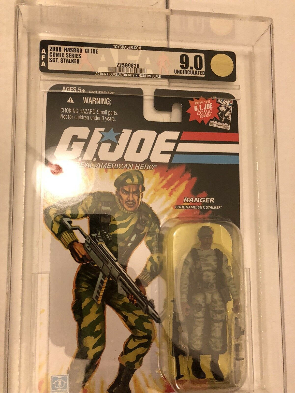 GI Joe 25th 25th 25th Anniversary Stalker Comic Version Action Figure AFA 9.0 UNCIR c31e4f