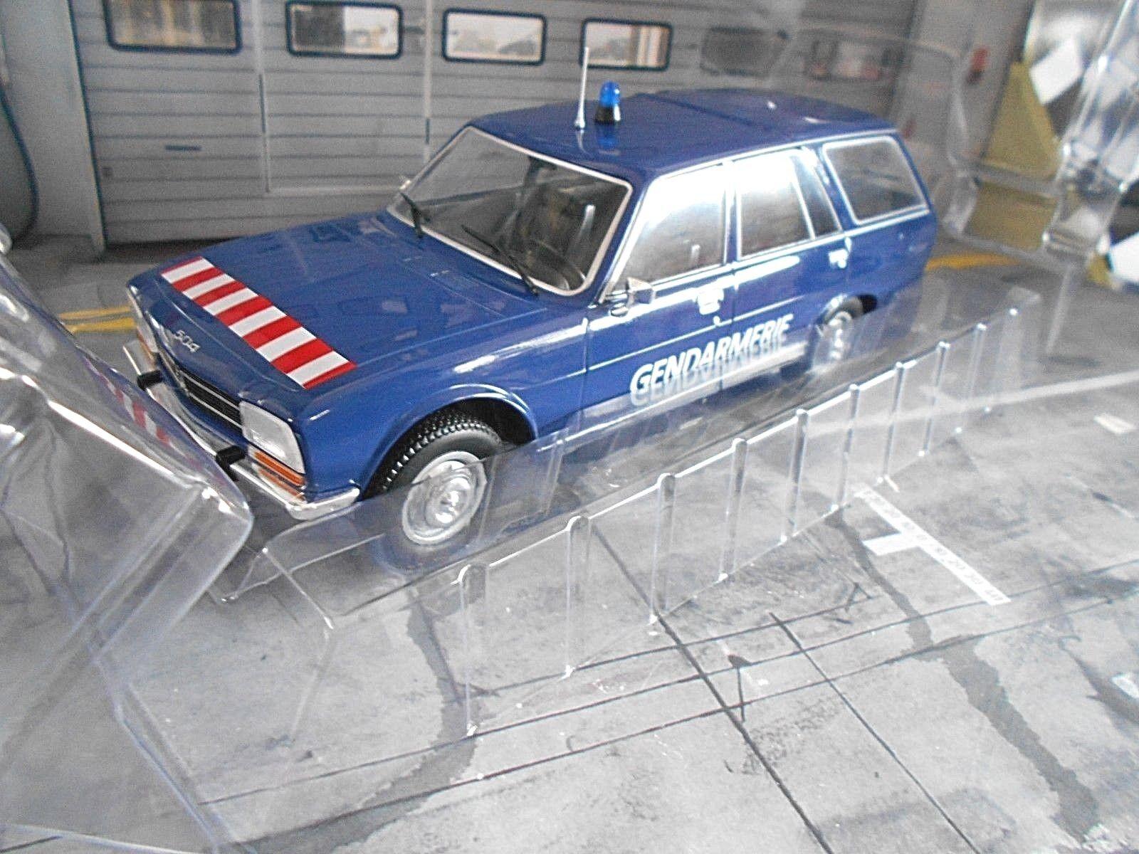 PEUGEOT 504 Break Kombi gendarmerie police police bleu 1976 Spreis MCG 1 18