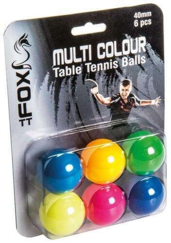 Fox TT couleur Balles de tennis de table pack de 6