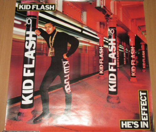 KID FLASH He/'s In Effect 23x23 hip-hop EX orig Tabu promotional poster 1988