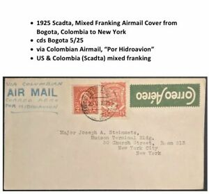 1925-Scadta-Colombia-US-Flight-Cover-Bogota-to-New-York-via-Hidroavion-mix-frank