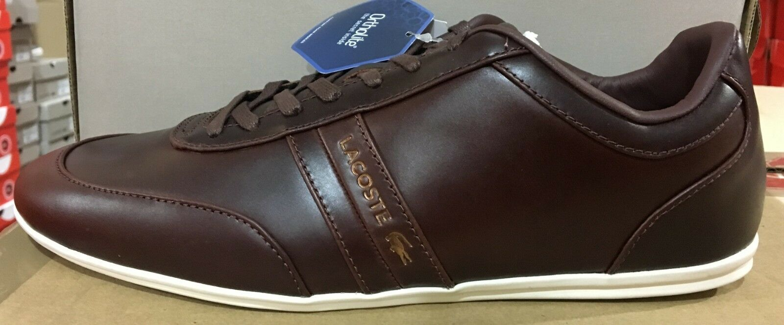 Lacoste Storda 318 2 US CAM Men's Brown Leather Casual Sneakers 7-36CAM00611W7 L