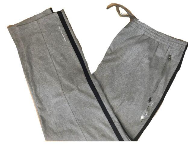 Men Polo Ralph Lauren BIG TALL Navy Blue Cotton Interlock Track Pants Sweatpants