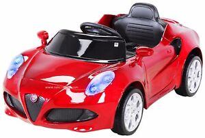 Kinder-Elektroauto-Kinderauto-Alfa-Romeo-4C-Lizenziert-Soft-Start-Transportrolle
