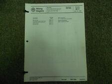1984 1988 Vw Quantum Cruise Control Sunroof Wiring Diagram Service Manual Oem 88