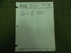 image is loading 1984-1988-vw-quantum-cruise-control-sunroof-wiring-