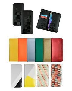 Stylish-PU-Leather-Magnetic-Slim-Wallet-Case-Cover-Fits-Motorola-One-Macro