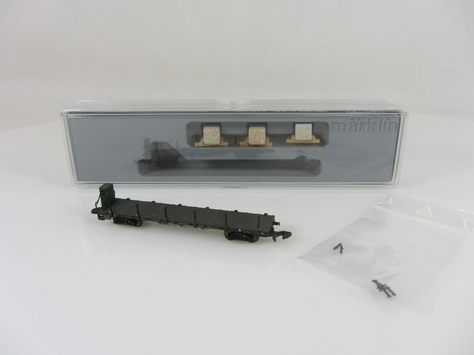 Märklin 82571 carro piatto con pietra carico buone condizioni con imballo originale