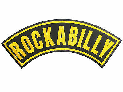 "ROCKABILLY Rock N Roll Big Jumbo XL Embroidered Back Jacket Patch 13/""//33cm"