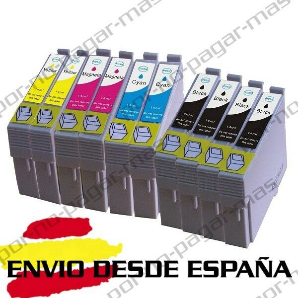 10 CARTUCHOS DE TINTA COMPATIBLE NON OEM PARA EPSON STYLUS SX235W SX435W T1285