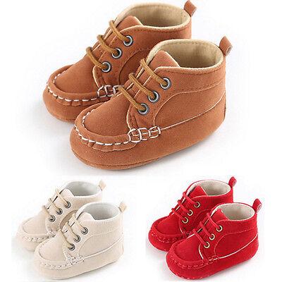 Newborn Toddler Baby Boy Girls Non-slip Soft Sole Crib Shoes Prewalker Sneakers