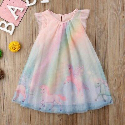 NWT Unicorn Girls Pink Sleeveless Dress 2T 3T 4T 5T
