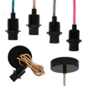 Lampenfassung-mit-1-2-m-Textilkabel-fuer-E-4-Gluehbirnen-in-4-verschiedenen-Farben