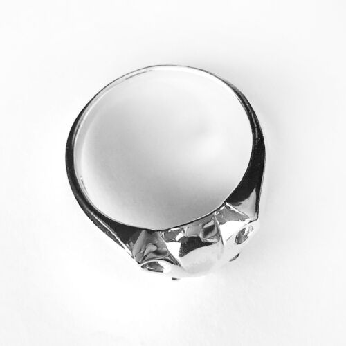 Taille 5 ~ 10-Chat Visage Sterling Silver Ring-polie
