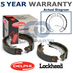 Front-Delphi-Lockheed-Brake-Shoes-For-Land-Rover-88-109-2-3-1963-1986-LS1089