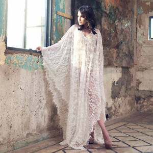 search for newest sale retailer offer Details about Kaftan Dress Bridal Lace Kimono Wedding Lingerie Honeymoon  Maxi Beach Cover Up