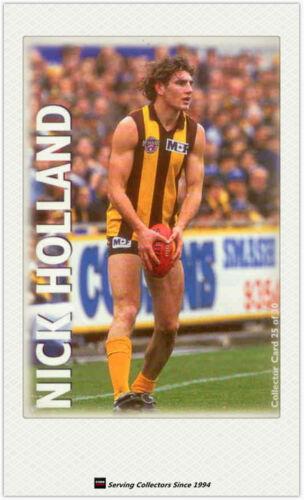 1996 Optus Vision AFL Card #25 Nick Holland Hawthorn