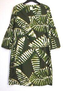 Nuevo-Marks-amp-Spencer-Palm-Imprimir-Vestido-Tunica-De-Algodon-tamano-de-Reino-Unido-8-22