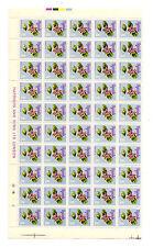 Uganda 1969 Flores 10 centavos reimpresiones 1972 en papel esmaltado ordinaria halfsheet estampillada sin montar o nunca montada