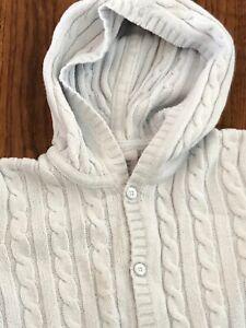 Baby Gap Bleu Pâle Coton En Tricot Torsadé Cardigan à Capuche 18 - 24mth-afficher Le Titre D'origine