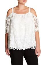 61a37cdde34f3 item 6 NWT  184 Vince Camuto Cold Shoulder Lace Blouse Top Ivory Plus Size  1X -NWT  184 Vince Camuto Cold Shoulder Lace Blouse Top Ivory Plus Size 1X