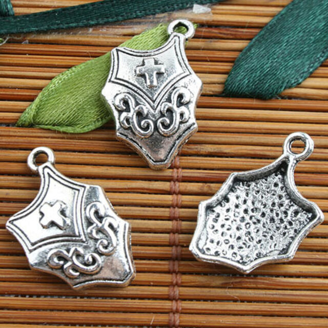 Tibetan Silver color cross style charms 14pcs EF0092