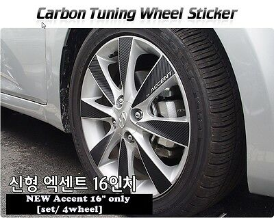 Hyundai  NEW Accent [2011~on] Carbon Tuning Wheel Mask Sticker [ 16 inch  only]