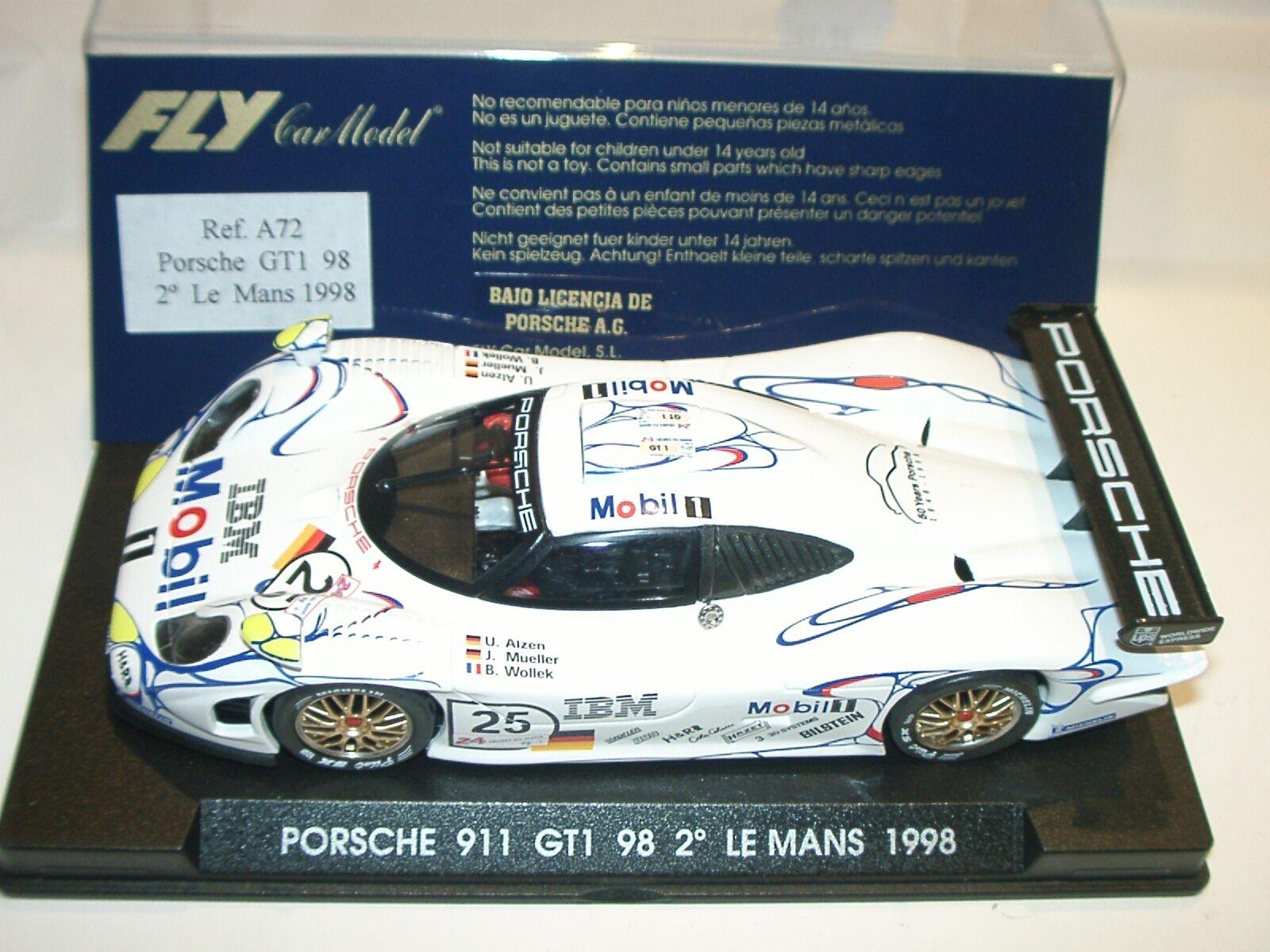 Scdu) FLY A72 PORSCHE 911 GT1 98 LE MANS 1998  - slot 1 32 scale