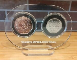 2020-Brexit-50p-Coin-and-1973-Entry-Into-Europe-50p-Both-Uncirculated-With-Frame