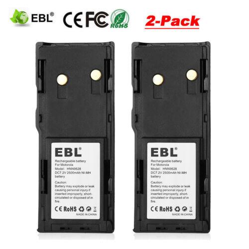 2x 2500mAh HNN9628 Radio Battery for MOTOROLA GP88 GP300 GP600 GTX800 LTS2000 US