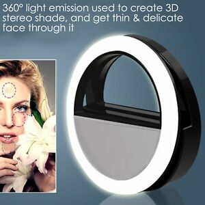 36LED Selfie Ring Fill Light Camera Photography USB mate for iPhone Samsung HTC