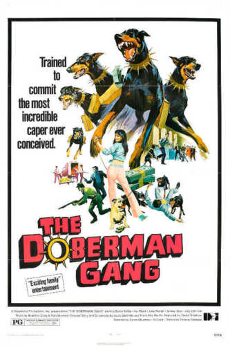 1972 THE DOBERMAN GANG VINTAGE ACTION MOVIE POSTER PRINT 36x24 9 MIL PAPER