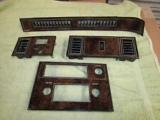 1978 1979 1980 Oldsmobile Cutlass Radio & Dash Trim Plates