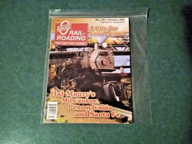 O Gauge Railroading Magazine 2003 October