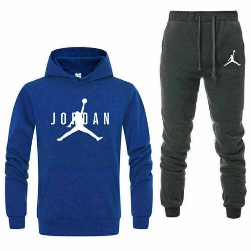 Legend Men Full Tracksuit Suit Hoodie Top Bottoms Jogging Set Playsuit Sweatsuit