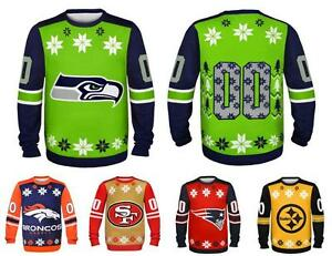 image is loading nfl football 2014 logo ugly christmas sweater jersey
