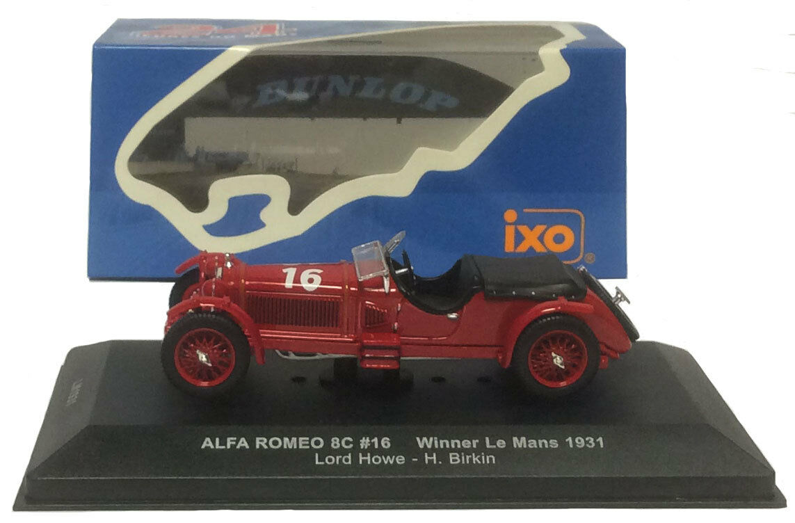 IXO Lm1931 ALFA ROMEO 8C     16 winner le mans 1931-HOWE   BIRKIN, échelle 1 43, a68dc8