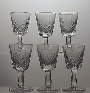 BEAUTIFUL-HAND-CUT-LEAD-CRYSTAL-LIQUEUR-OR-SMALL-SHOT-GLASSES-SET-OF-6