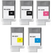 5 cartridge fits Pfi-107 ink Canon ipf 670 680 685 770 780 785 pfi107 xc inkjet