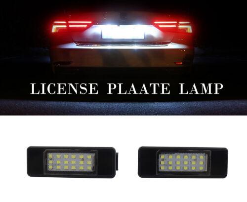 2x White LED License Plate Light High Power for Peugeot 106 207 307 308 Citroen