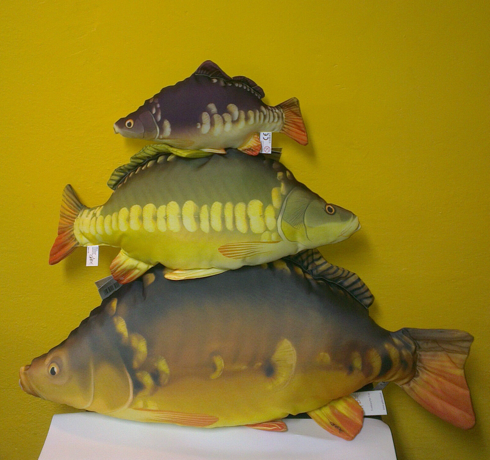 GABY 3 CARP SET   SOFT TOY FISH PILLOWS GREAT FISHING GIFT   3 CARP in one SET