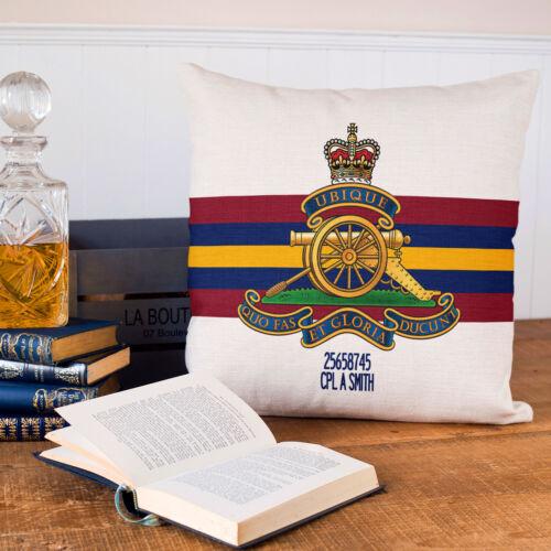Royal Artillery Cushion Cover PERSONALISED British Military Gift MC36