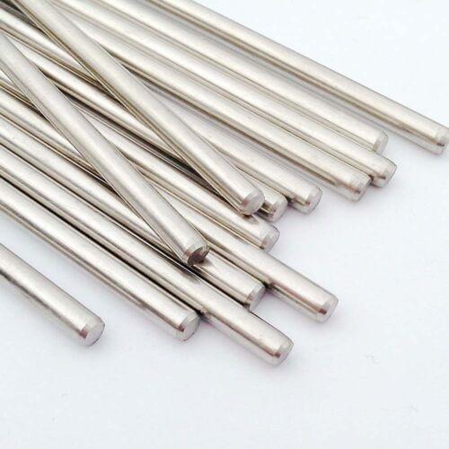 3 mm Acier Inoxydable Arbre Jouet Voiture Gear Essieu Roue pour bricolage 10x 50-160 mm Dia