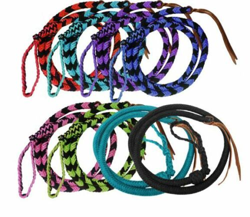 Showman 4.5 ft Braided nylon Over /& Under whip with leather popper