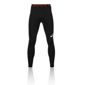 Asics-Recovery-Hommes-Noir-Compression-Long-Leggings-Collants-Sport-Running