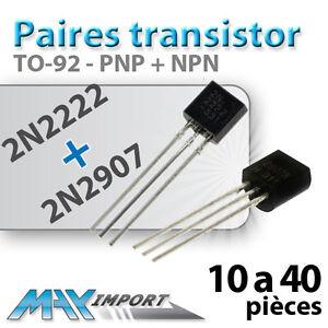 Paires-transistors-2N2222-2N2907-Arduino-Lots-multiples-prix-degressif