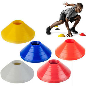 1-Set-of-10-Space-Markers-Cones-Soccer-Football-Ball-Training-Equipment-ES